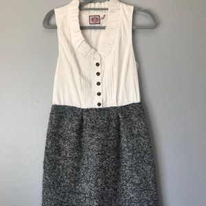 Juicy Couture Black White Tweed  Dress Size 4